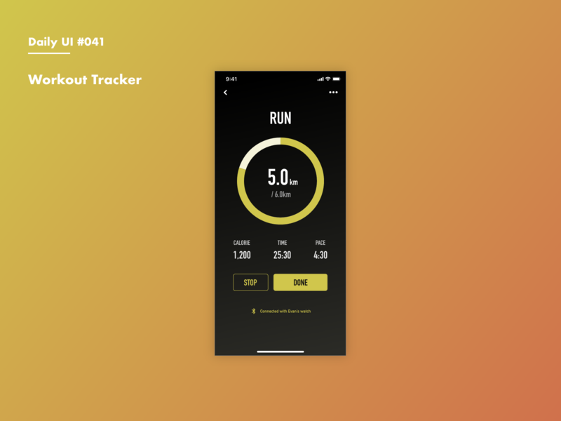Daily UI #041 Workout Tracker running training workout daily 100 adobexd daily 100 challenge dailyui
