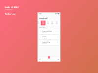 Daily UI #042 ToDo List