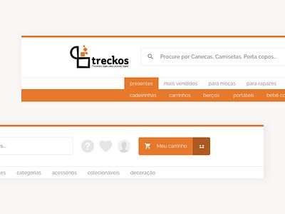 E-commerce Treckos Headers header ecommerce