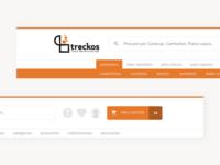 E-commerce Treckos Headers