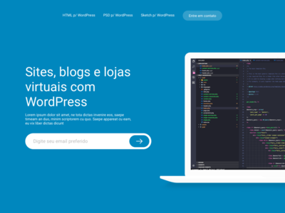 WordPress Project, landing page