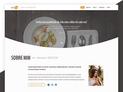 Nutritionist Website page landing website nutritionist