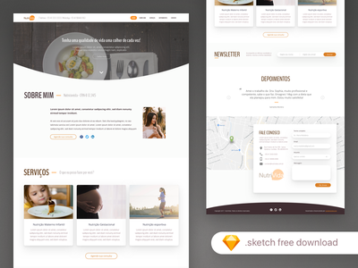 Nutritionist Freebie download onepage template download freebie