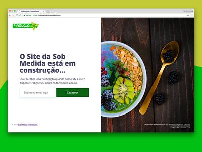 Sob Medida Fitness Food soon coming web page landingpage