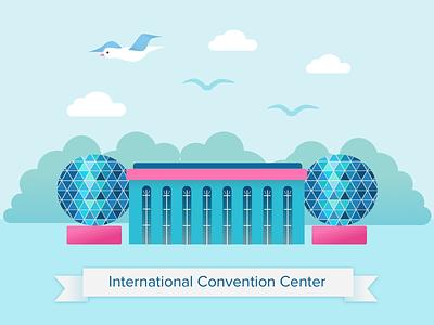 Shanghai International Convention Center graphic design china shanghai
