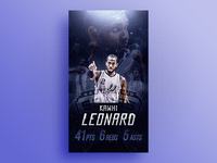 Wallpaper - Kawhi Leonard Career High
