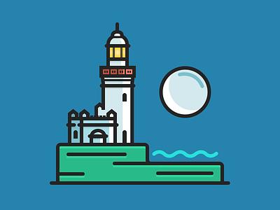 Byron Bay Lighthouse beach australia night moon water ocean lighthouse byron bay