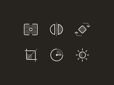 Camera and Images - Icon Set reflect icon crop rotate timer brightness contrast image camera