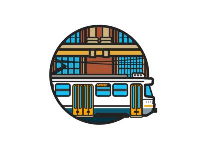 Melbourne Tram rail tram australia melbourne illustration city