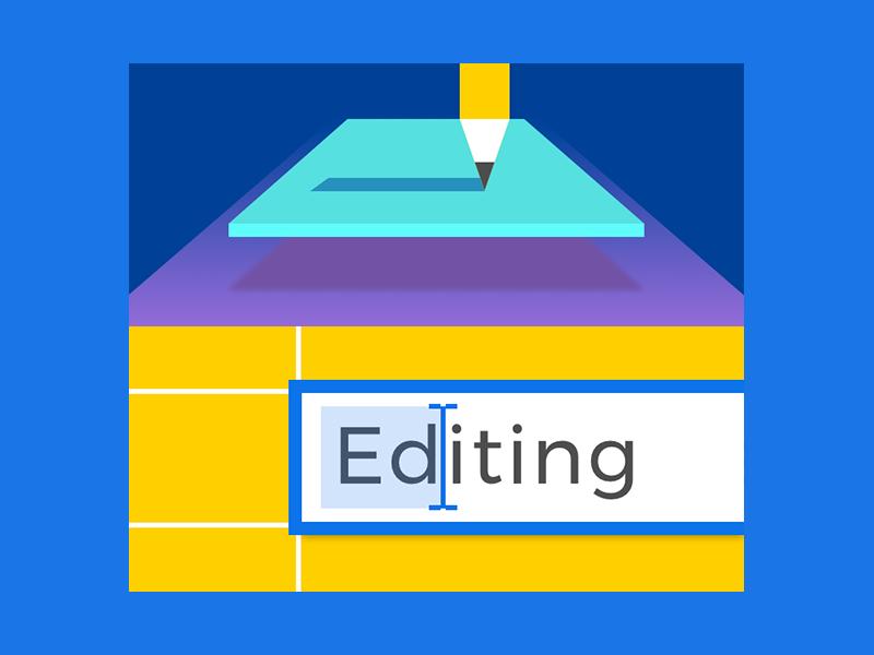 Editing writing pencil text editing