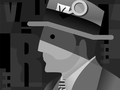 Detective detective letters numbers illustration