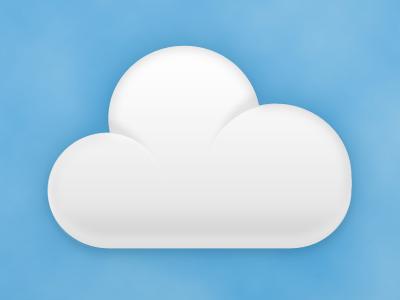 Cloud thumbnail cloud vector