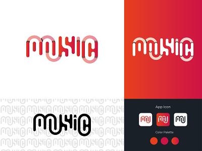 Music wordmark logo logo vector wordmark typography app icon flat logo type art graphic design minimal symbol branding logo design logo inspiration music player music wordmark logo music logo music logo maker