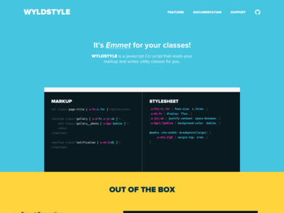 Wyldstyle - Emmet for your markup! code terminal web design