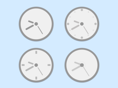 CSS Clocks ui design
