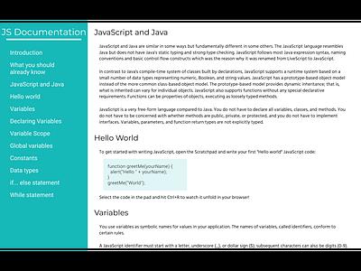 Documentation Page web  design freecodecamp newbie design