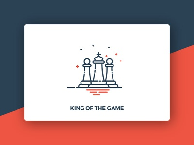 King Of The Game line indoor sports icons game chess pawn king