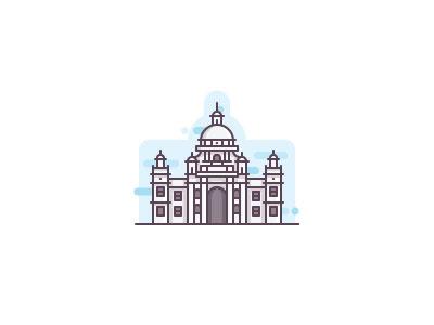 Kolkata victoria memorial monument minamal landmark calcutta city india destination tourist museum kolkata
