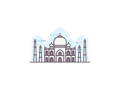Agra taj mahal taj landmark city mosque building heritage monument wonder