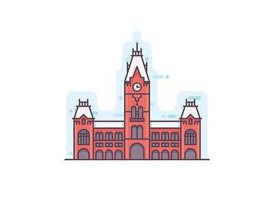 Chennai heritage building chennai central railway station icon illustration india landmark city madras chennai