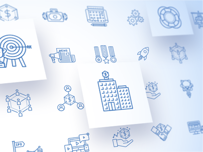 Business Terms Iconpack iconset iconpack icon milestone marketing valuation funding goal investment condition terms business