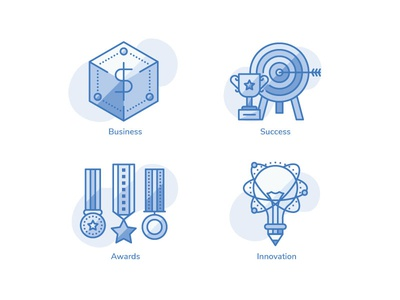 Business Terms Iconpack iconset iconpack icon milestone award innovation valuation funding startup goal creativity business terms