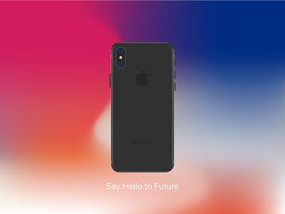 Iphone X iphone x steel stainless black ios smartphone illustration apple x iphone