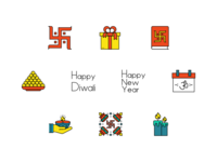 Diwali : Free Iconpack