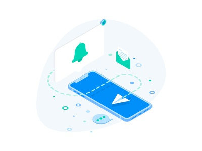 Mobile Updates Illustration for Payment Gateway Platform message illustration notification alert update mobile webdesign web ux ui payment icons