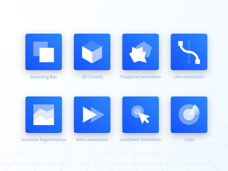 Annotation Tool Icons by Jemis Mali for Playment on Dribbble