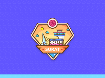 Surat Dribbble Meetup iconscout architecture city landmark ux illustration drawing event poster logo art symbol design gujarat surat meetup dribbble
