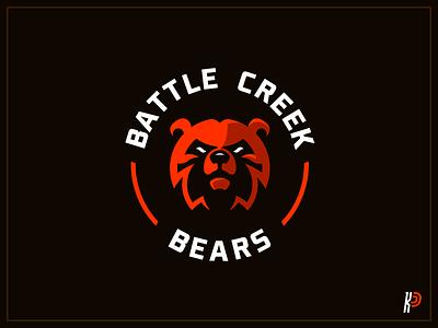 Battle Creek Bears graphicdesign design logo team logo illustrator branding illustration sportslogo mascotlogo mascot logo design
