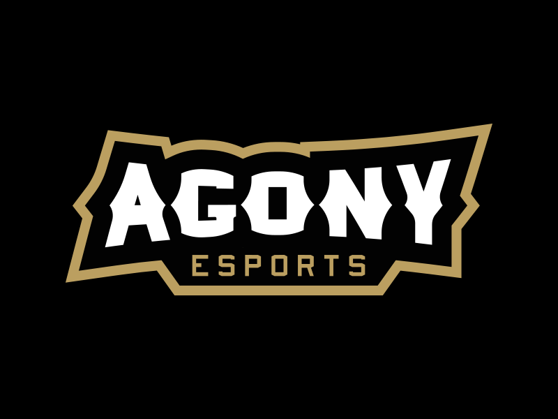 Agony eSports Wordmark esports illustrator illustration mascot branding logo