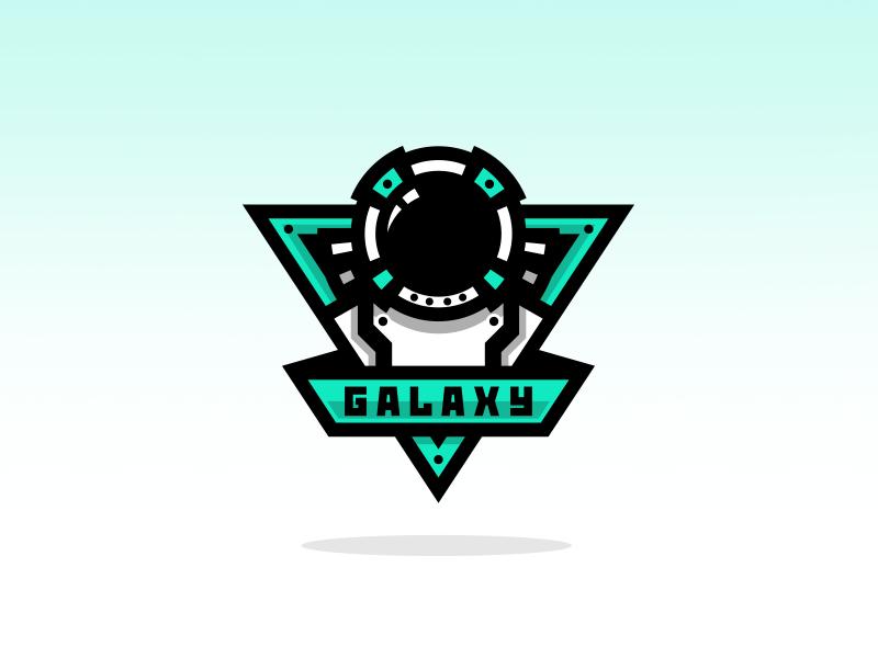Astronaut Mascot Logo brand astronaut galaxy team logo illustrator design branding logo mascot