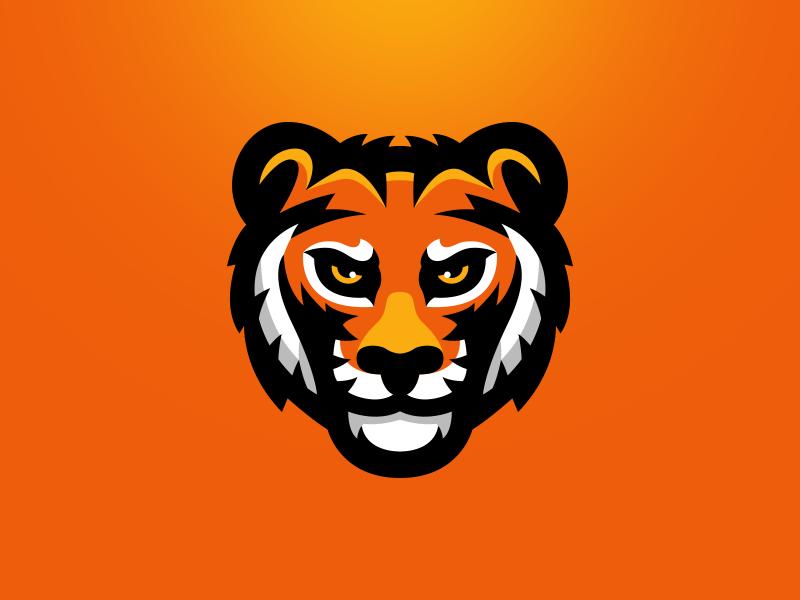 Tiger Mascot Logo illustration sports logo team logo logo branding brand mascot tiger