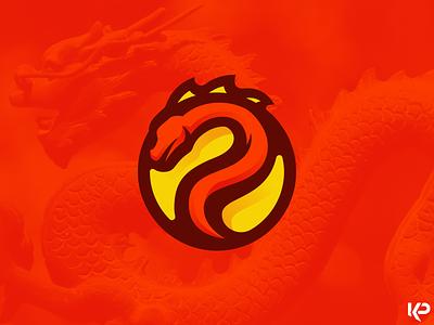 Dragon Logo team logo branding illustration logo dragon