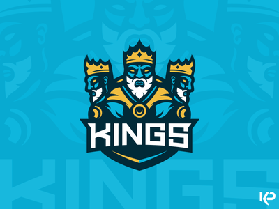 Kings Mascot mascot logo mascot sports logo team logo crown logo illustration branding kings