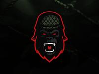 Gorilla Soldier Mascot Logo