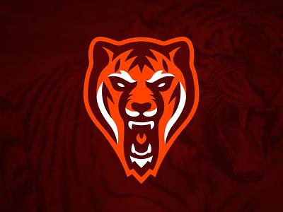 Tiger Mascot Logo team logo sports logo mascot logo tigers mascot logo illustration tiger branding brand