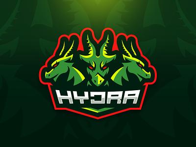 Hydra Mascot Logo team logo sports logo mascot logo serpent dragon hydra mascot logo illustration branding brand