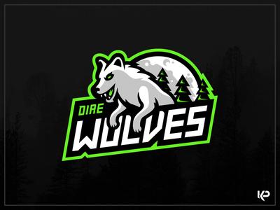 Direwolves Mascot Logo
