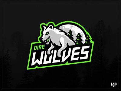 Direwolves Mascot Logo sports logo esports illustrator design brand illustration team logo branding mascot logo