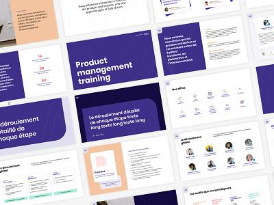 Agily slide template branding design anais maxin agency slide diapos layout slides