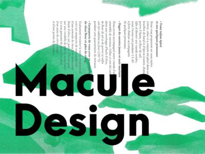 Macule design