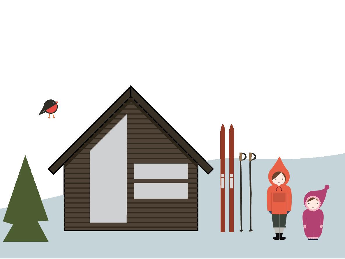 Illustrating - Norwegian mountain life illustrator illustration