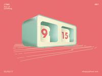 Day001: Auto flip clock
