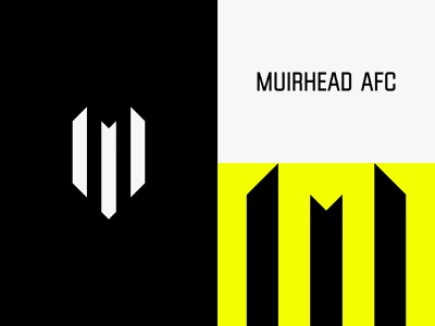Muirhead WIP football logo football club badge soccer football print design identity graphic design branding logo typography