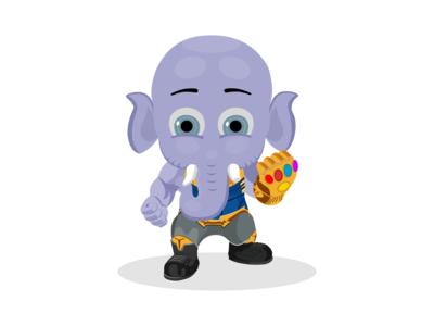 Ganesha inspired by Thanos