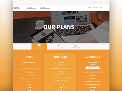 Dynamic plans page   plans web yellow ui ux pricing site builder partners branding