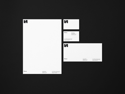 Nexus Print Collateral letterhead business cards print construction photography typography branding brand identity logo
